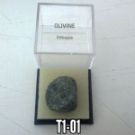 Olivine Raw Crystal specimen   1.7cms  & display box